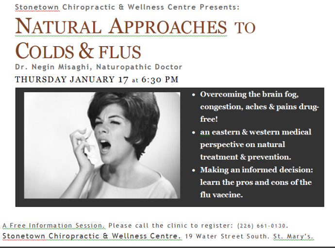 colds and flus st.Marys Natural Health Naturopathic medicine