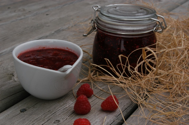 We visited the pyo Sheldon berries farm (Kintore, Ontario) today and made some yummy jam and low-sugar mint-raspberry sorbet!